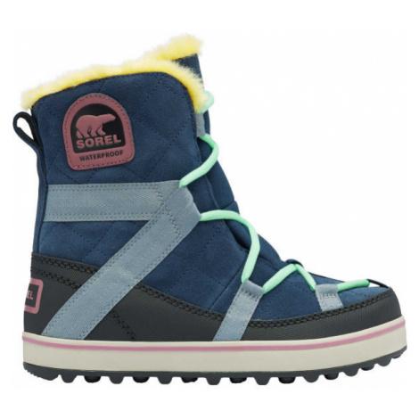 Sorel GLACY EXPLORER SHORTIE modrá - Dámska zimná obuv