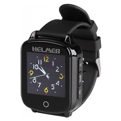 Helmer Chytré dotykové volací hodinky s GPS lokátorem pro seniory - LK černé