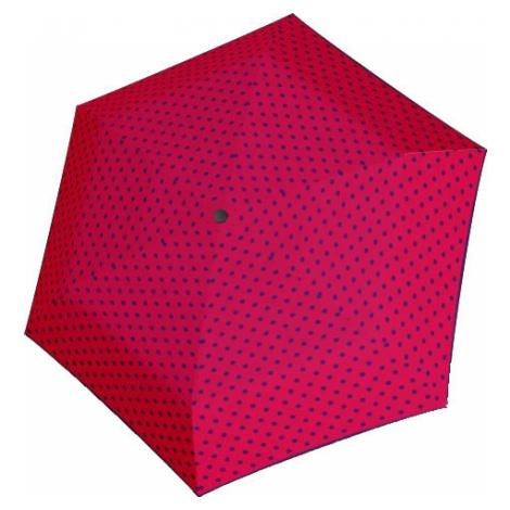 Doppler Dámsky skladací mechanický dáždnik Hit Mini Flat Dots 722565PD02