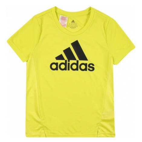 ADIDAS PERFORMANCE Funkčné tričko  čierna / limetková