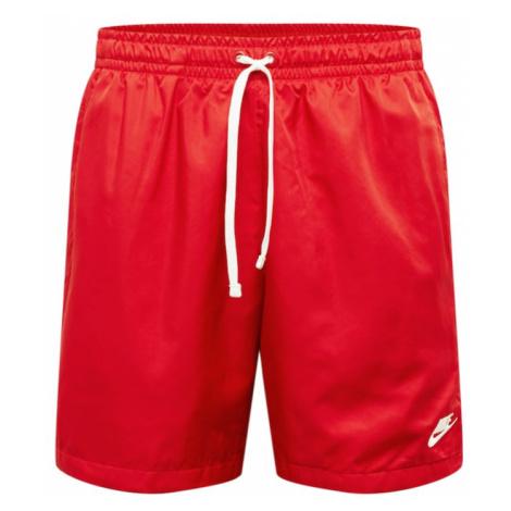Nike Sportswear Funkčné nohavice  červená / biela