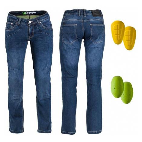 Dámske moto jeansy W-TEC Kavec Farba tmavo modrá