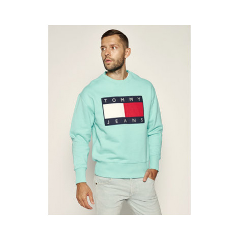 Tommy Jeans Mikina Tjm Flag Crew DM0DM07201 Modrá Regular Fit Tommy Hilfiger