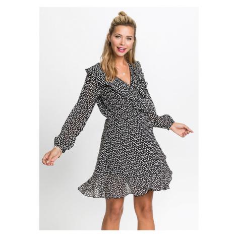 Zavinovacie šaty s volánmi bonprix