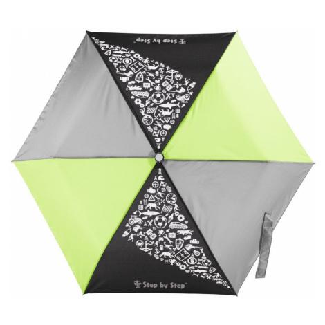Detský skladací dáždnik čierna/ šedá/zelená