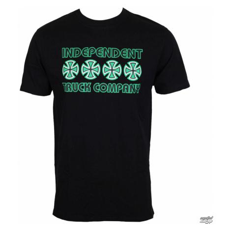 tričko street INDEPENDENT Stacked Color Black Čierna