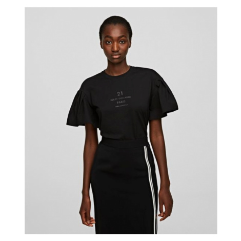 Tričko Karl Lagerfeld Puffy Sleeve Top W/ Logo