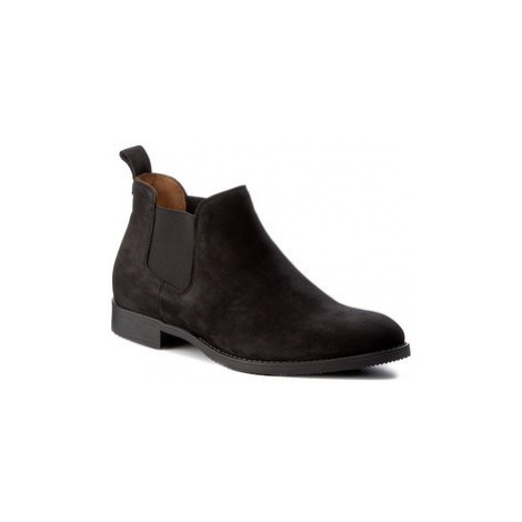 Gino Rossi Členková obuv s elastickým prvkom Chuck MSV999-K35-AG00-9900-0 Čierna