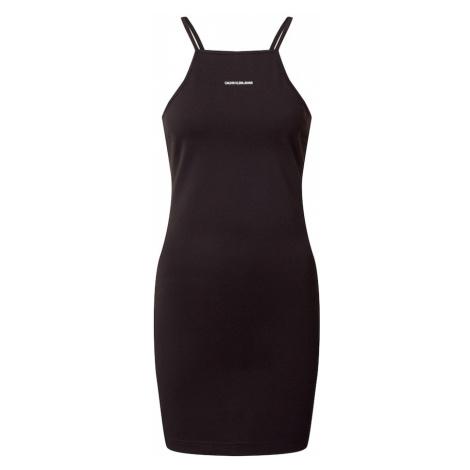 Calvin Klein Jeans Letné šaty 'Milano'  čierna / biela