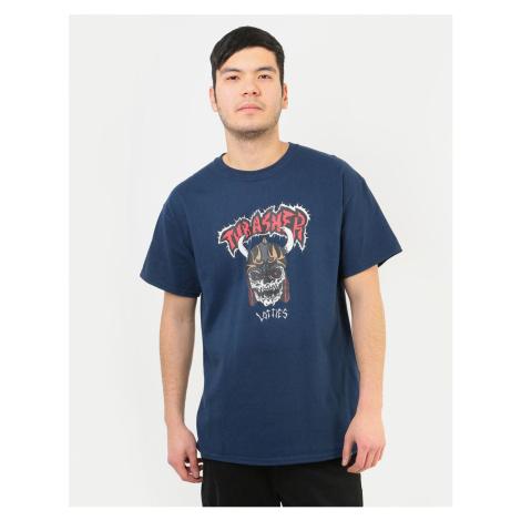 Pánske tričko THRASHER Lotties T-Shirt - Navy Farba: Modrá