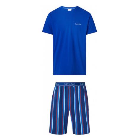 Calvin Klein Underwear Krátke pyžamo  kráľovská modrá / červená / biela