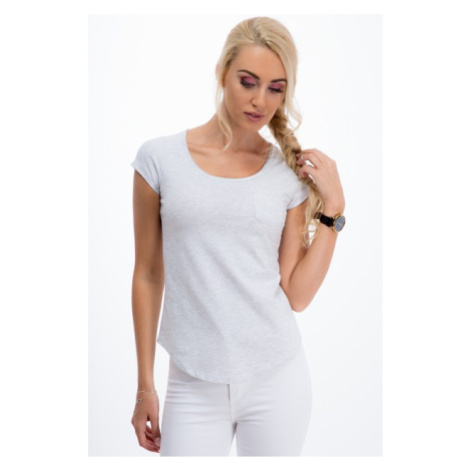 Sivé, pohodlné tričko s krátkym rukávom FASARDI