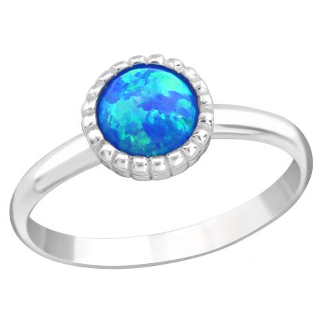 OLIVIE Detský strieborný prsteň MODRÝ OPÁL 4431