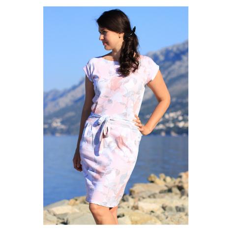 Dámske letné šaty s kvetinovým vzorom