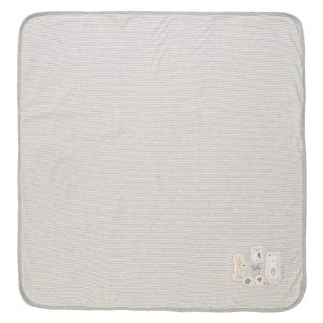 STACCATO Deka pre bábätko  sivá melírovaná / biela