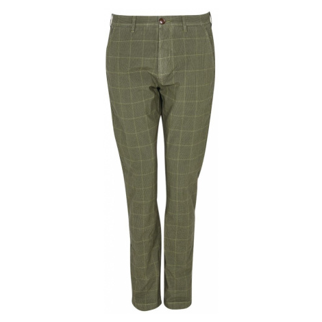 Barbour Kockované nohavice Barbour Essential Overdyed Check Trousers - zelené