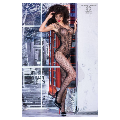 Čierne bodystockings CR-4233 Chilirose