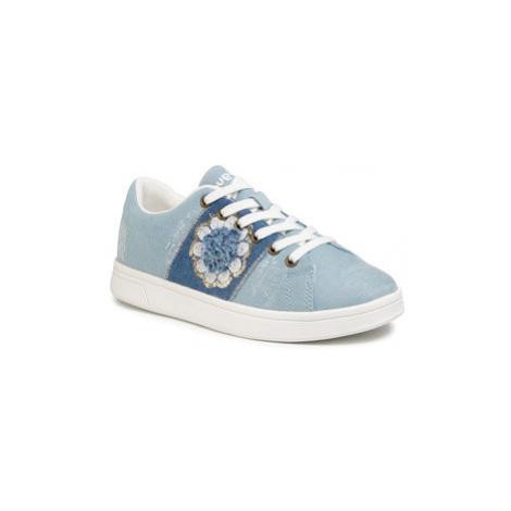 Desigual Sneakersy Cosmic Exotic Flower 20SSKD06 Modrá
