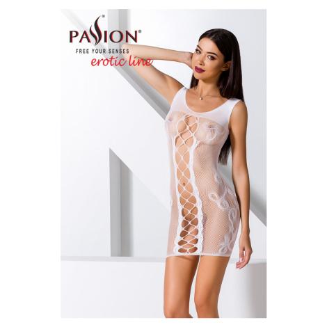 Biele sieťované šaty BS073 Passion