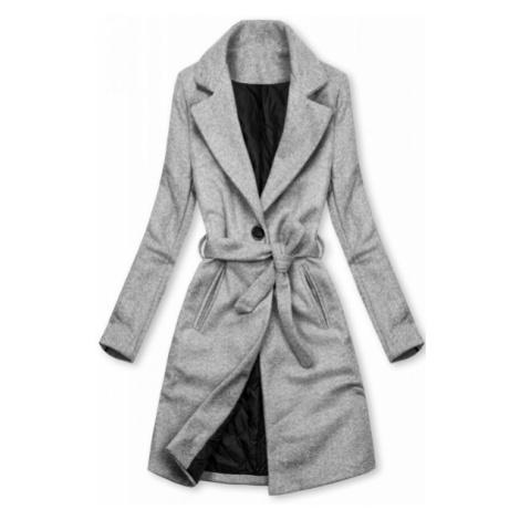 Sivý kabát na zaväzovanie