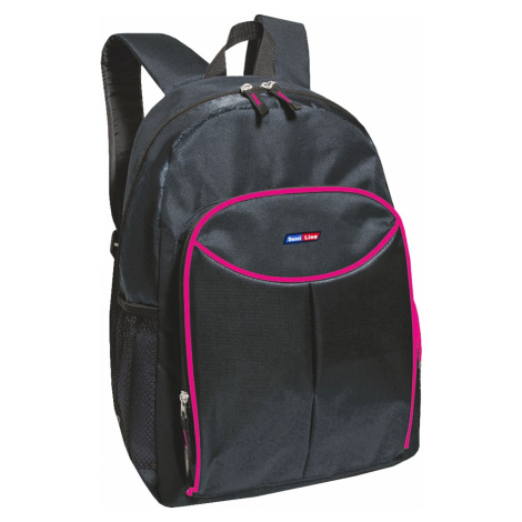 Semiline Woman's Backpack 3286-8 Black/Cherry