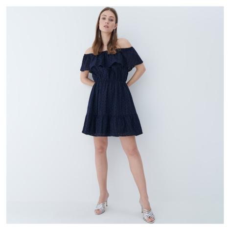 Mohito - Šaty s odhalenými ramenami - Modrá