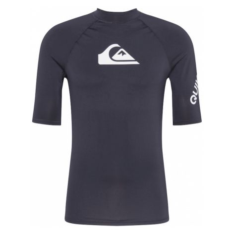 QUIKSILVER Funkčné tričko 'ALL TIME'  čierna / biela