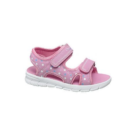 Ružové sandále na suchý zips Cupcake Couture