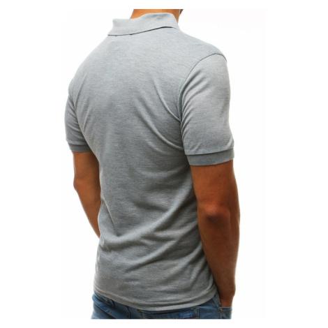 Men's light gray polo shirt PX0203 DStreet