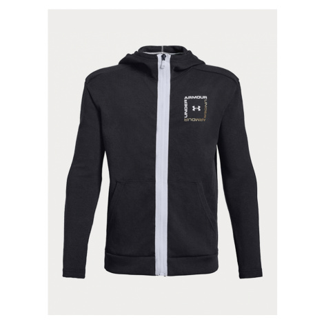 Mikina Under Armour Unstoppable Double Knit Full Zip Čierna