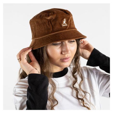 Hnedý menčestrový klobúk Cord Bucket Kangol