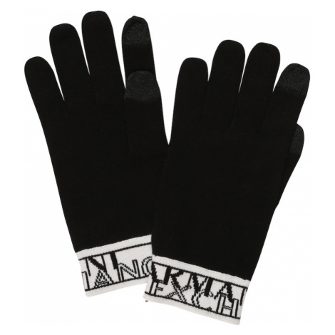 ARMANI EXCHANGE Prstové rukavice  biela / čierna