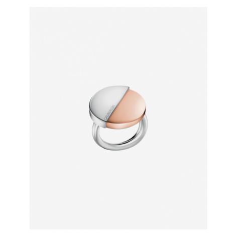 Calvin Klein Prsteň Strieborná Béžová