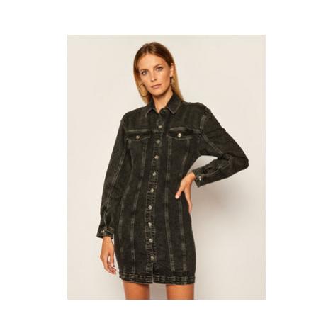 Patrizia Pepe Džínsové šaty 8J0953/A7K2-K112 Čierna Regular Fit