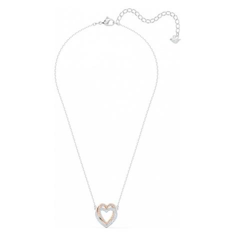 Swarovski Retiazka 'Infinity Heart'  priehľadná / strieborná / zlatá