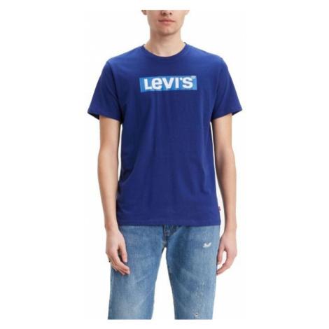 Levi's GRAPHIC SET-IN NECK 2 modrá - Pánske tričko Levi´s