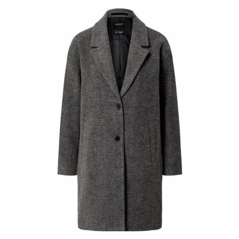 SELECTED FEMME Prechodný kabát 'MISSA'  čierna melírovaná / svetlosivá