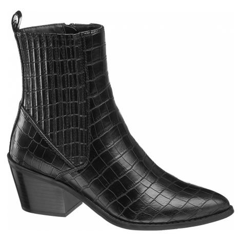 Vero Moda - Čierna Chelsea obuv so zvieracím vzorom Vero Moda