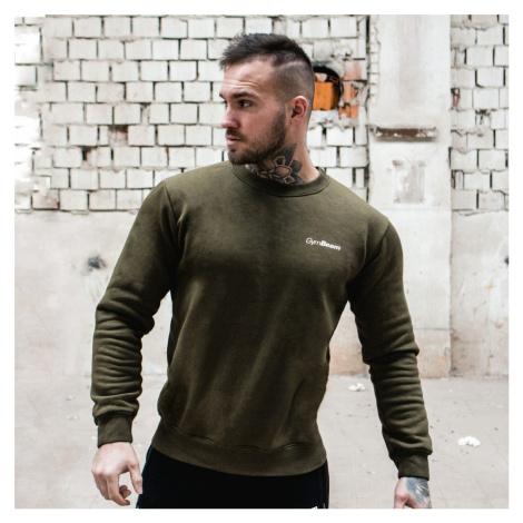 GymBeam Mikina Basic Military Green White  XL
