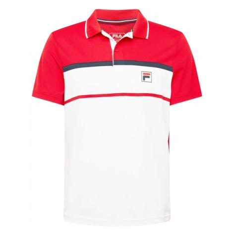 FILA Funkčné tričko 'Anton'  biela / ohnivo červená / námornícka modrá