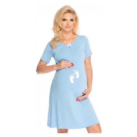 Materská nočná košeľa Gloria s cvokmi modrá PeeKaBoo