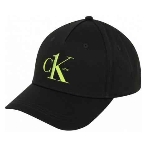 Calvin Klein Čiapka  čierna / neónovo zelená
