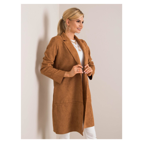 STITCH & SOUL Light brown coat made of eco suede