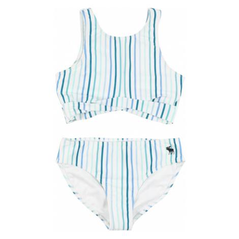 Abercrombie & Fitch Jednodielne plavky  biela / nefritová / azúrová / petrolejová / kráľovská mo