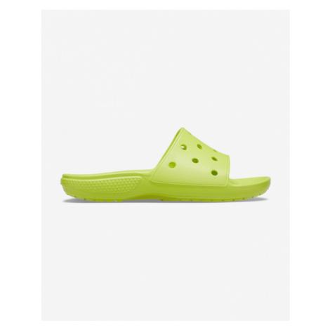 Crocs Classic Šľapky Zelená Žltá