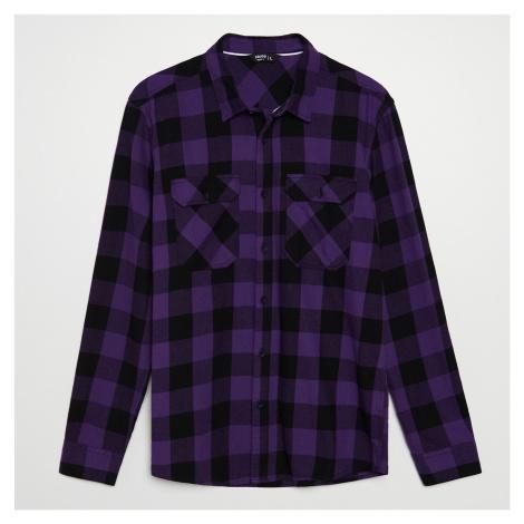 Cropp - Kockovaná košeľa - Purpurová