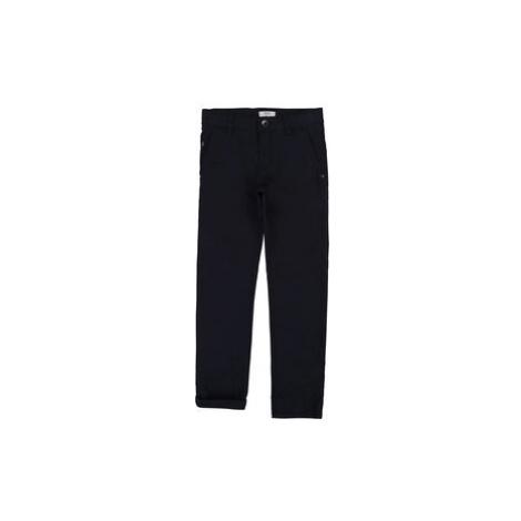 Boss Bavlnené nohavice J24606 D Tmavomodrá Slim Fit Hugo Boss