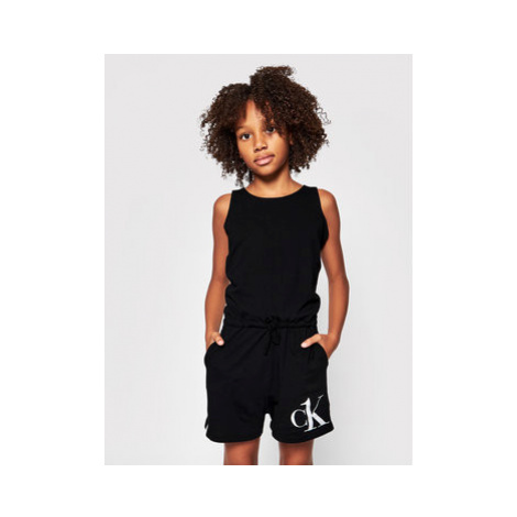 Calvin Klein Swimwear Overal Romper G80G800408 Čierna Regular Fit