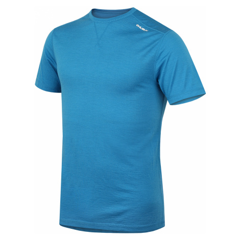 Husky Tričko krátke pánske modrá, Merino termoprádlo