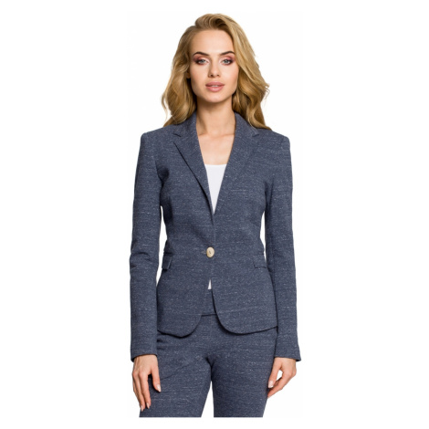 Made Of Emotion Woman's Jacket M197 Navy Blue